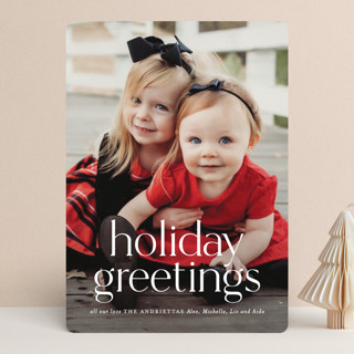 Timeless Christmas Holiday Photo Cards