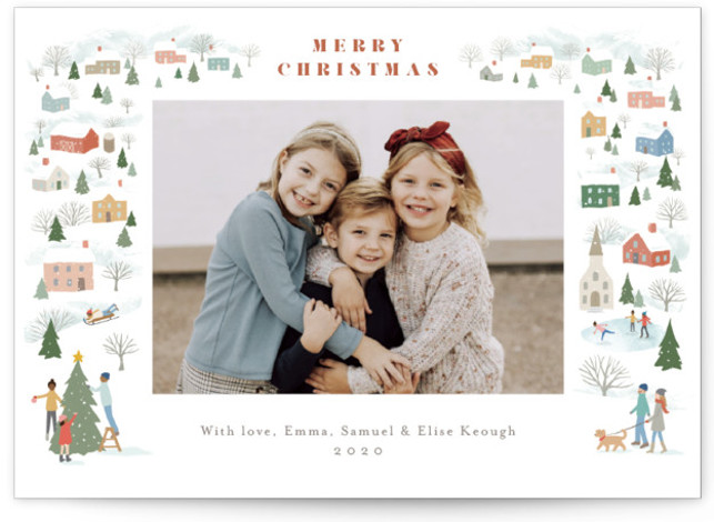 Winter Village Holiday Photo Cards