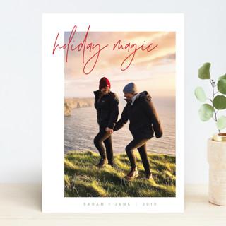 Modern Balance Holiday Photo Cards