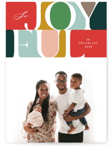 Colorblock Joy Holiday Photo Cards