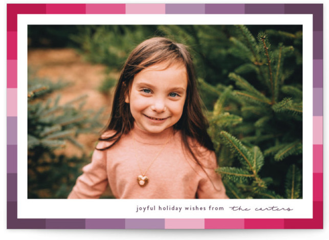 Vibrant Frame Holiday Photo Cards
