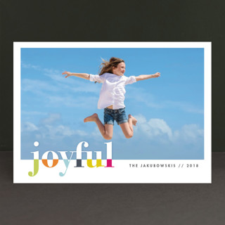 bountiful joy Holiday Photo Cards