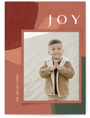 organic collage Holiday Photo Cards