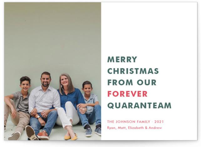 The Quaranteam Holiday Photo Cards
