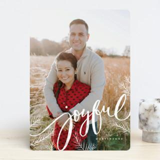 Joyful pines Holiday Photo Cards