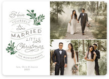 A Little Married Holiday Photo Cards