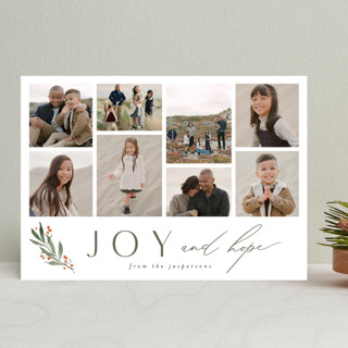Simple Sprig Holiday Photo Cards