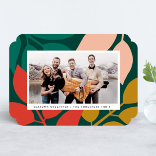 Mod Leaves Holiday Photo Cards