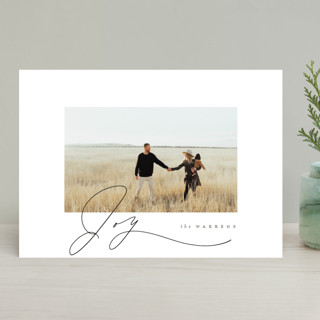 Gentle Script Holiday Photo Cards
