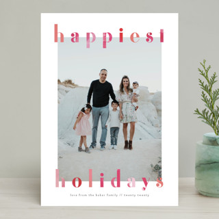 Painted Bright Holiday Photo Cards