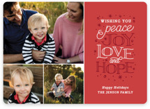 Sentiments Holiday Photo Cards