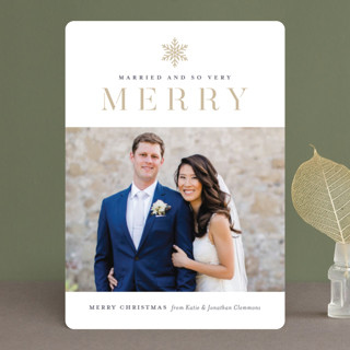 Snow Merry Holiday Photo Cards