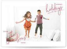 hand-written holiday Holiday Photo Cards