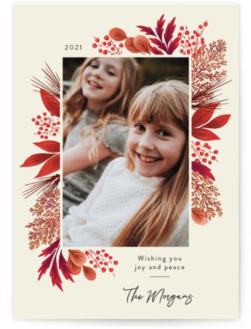 Crimson Holiday Holiday Photo Cards