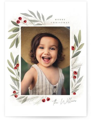 Merry Botanical Holiday Photo Cards