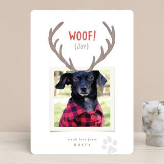 Reindeer Ears Holiday Photo Cards