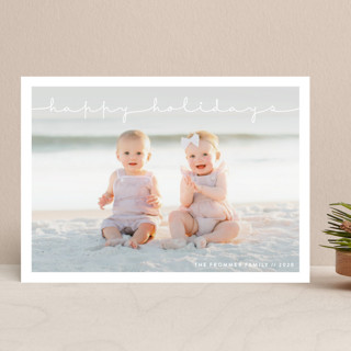 Refined Simplicity Holiday Photo Cards