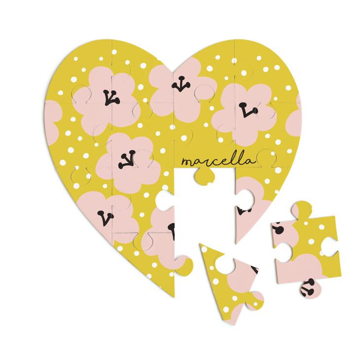 Marcella 12 Piece Custom Heart Puzzle