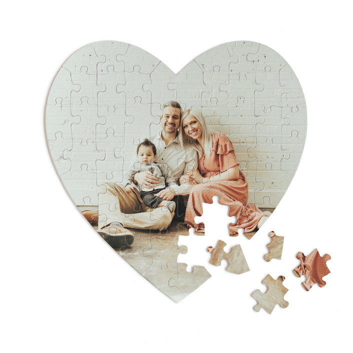 The Big Picture 60 Piece Custom Heart Puzzle