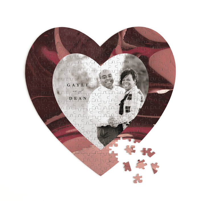 Love Story 252 Piece Custom Heart Puzzle