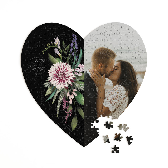 Bold Bouquet 252 Piece Custom Heart Puzzle