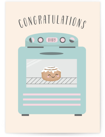 Bun in the Oven Individual Baby Greeting Cards