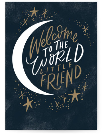 Welcome Little Friend Individual Baby Greeting Cards