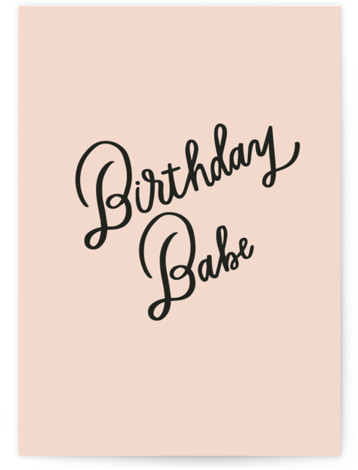 Bday Babe Individual Feminine Birthday Greeting Cards