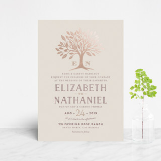Enchanted Foil-Pressed Wedding Invitation Petite Cards