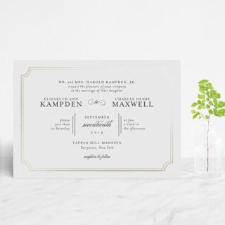 Classy Type Foil-Pressed Wedding Invitation Petite Cards