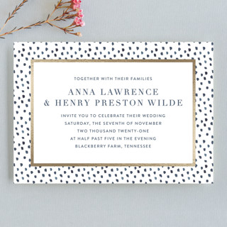 West Village Foil-Pressed Wedding Invitation Petite Cards