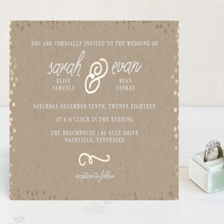 Starlight Foil-Pressed Wedding Invitation Petite Cards