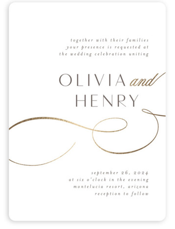 Forever And Foil-Pressed Wedding Invitations