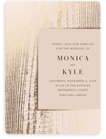 barn door Foil-Pressed Wedding Invitations