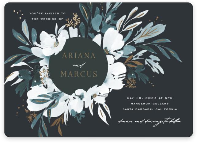 Romance Foil-Pressed Wedding Invitations