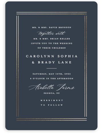 The Biltmore Foil-Pressed Wedding Invitations