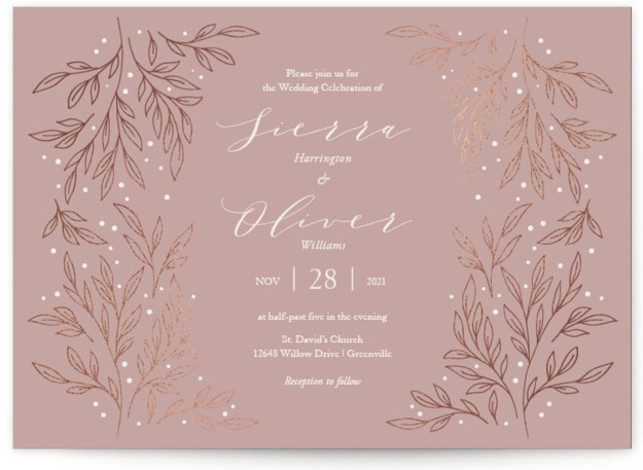wedding color trend dusty rose minted