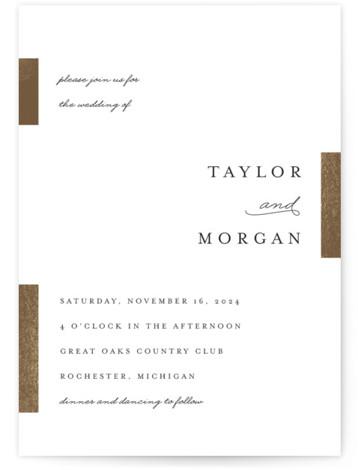 Gallant Foil-Pressed Wedding Invitations