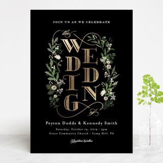 Stacked wedding Foil-Pressed Wedding Invitations