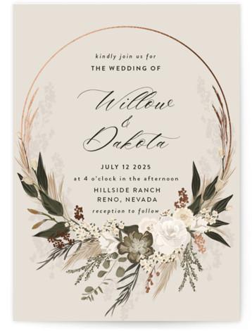 Botanical Edge Wedding Invitations
