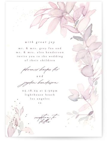 side romance Foil-Pressed Wedding Invitations