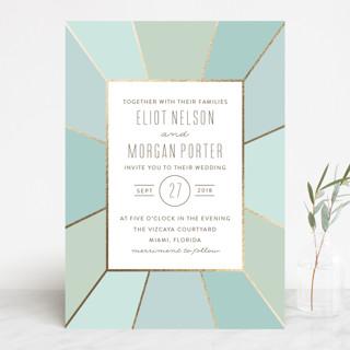 Pavilion Foil-Pressed Wedding Invitations