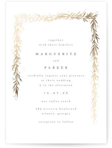 kawaguchi Foil-Pressed Wedding Invitations
