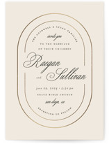 Full Circle Foil-Pressed Wedding Invitations