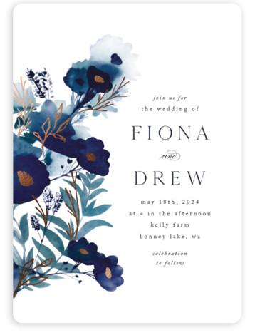 Splendid Ink Foil-Pressed Wedding Invitations