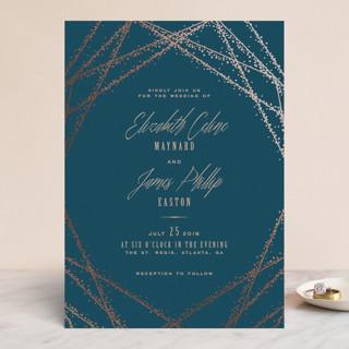 Starcrossed Foil-Pressed Wedding Invitations
