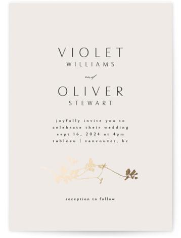 Mist Foil-Pressed Wedding Invitations