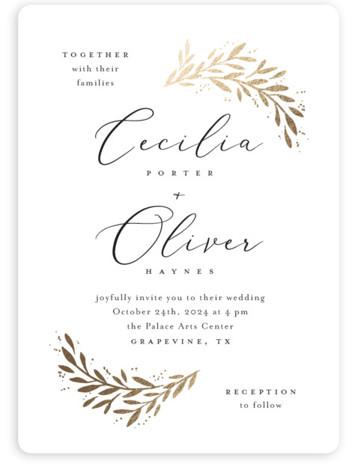 Vine + Pen Wedding Invitations