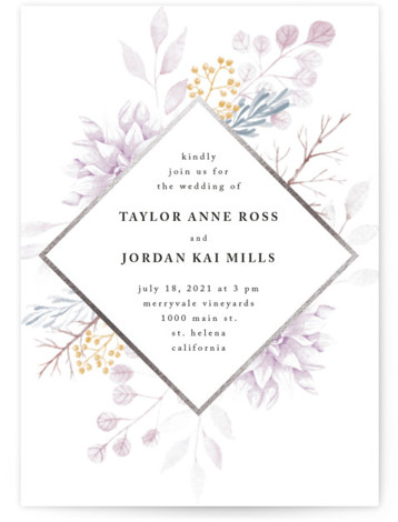 Ascent Foil-Pressed Wedding Invitations