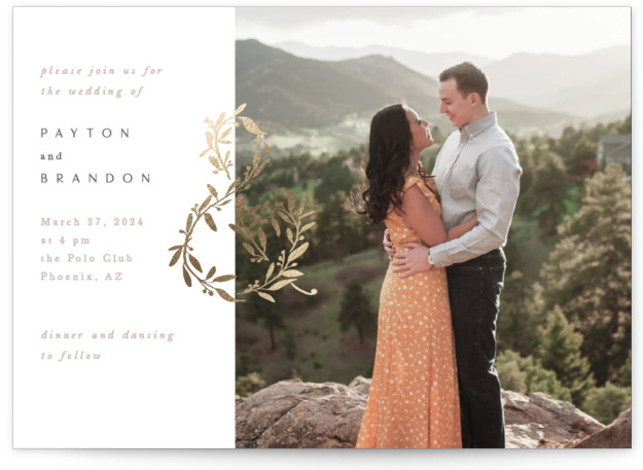 Love and Marriage Foil-Pressed Wedding Invitations